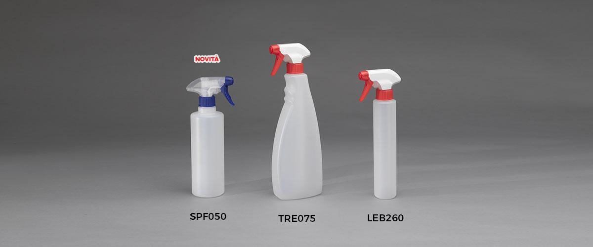 Bottiglie con dispenser bottiglie trigger
